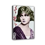 Art Deco Woman in Purple Velvet Mini Canvas 6  x 4  (Stretched)