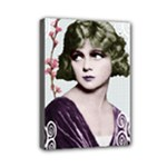 Art Deco Woman in Purple Velvet Mini Canvas 7  x 5  (Stretched)