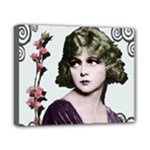 Art Deco Woman in Purple Velvet Canvas 10  x 8  (Stretched)
