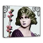 Art Deco Woman in Purple Velvet Canvas 20  x 16  (Stretched)