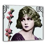 Art Deco Woman in Purple Velvet Canvas 24  x 20  (Stretched)