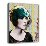 Art Deco Woman in Green Hat Deluxe Canvas 20  x 16  (Stretched)