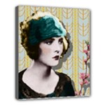 Art Deco Woman in Green Hat Deluxe Canvas 24  x 20  (Stretched)