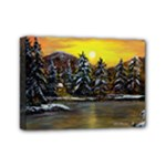 James  Winter Cabin - Ave Hurley -  Mini Canvas 7  x 5  (Stretched)