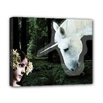 Girl & Her Unicorn Canvas 10  x 8  (Stretched)