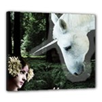 Girl & Her Unicorn Canvas 24  x 20  (Stretched)