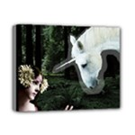 Girl & Her Unicorn Deluxe Canvas 14  x 11  (Stretched)