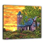 Jessica s Cottage by Ave Hurley - Canvas 24  x 20  (Stretched)