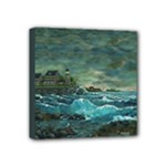 Sailing at Hobson s Lighthouse By Ave Hurley -  Mini Canvas 4  x 4  (Stretched)