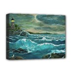 Hobson s  Lighthouse - Ave Hurley -  Deluxe Canvas 16  x 12  (Stretched)