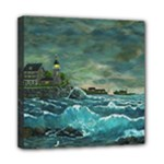 Sailing At Hobson s Lightnhouse By Ave Hurley Mini Canvas 8  x 8  (Stretched)