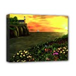 Eddies Sunset by Ave Cosgriff Hurley Deluxe Canvas 16  x 12  (Stretched)