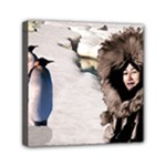 Eskimo Scene Mini Canvas 6  x 6  (Stretched)