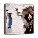 Eskimo Scene Mini Canvas 8  x 8  (Stretched)