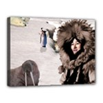 Eskimo Scene Canvas 16  x 12  (Stretched)