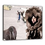 Eskimo Scene Canvas 24  x 20  (Stretched)