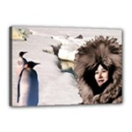 Eskimo Scene Canvas 18  x 12  (Stretched)