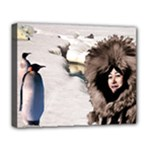 Eskimo Scene Deluxe Canvas 20  x 16  (Stretched)