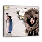 Eskimo Scene Deluxe Canvas 24  x 20  (Stretched)