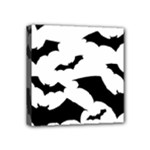 Deathrock Bats Mini Canvas 4  x 4  (Stretched)