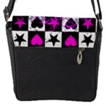 Emo Scene Girl Skull Flap closure messenger bag (Small)