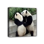 Let Me Kiss You Pandas In Love Mini Canvas 4  x 4  (Stretched)
