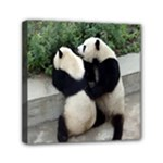 Let Me Kiss You Pandas In Love Mini Canvas 6  x 6  (Stretched)