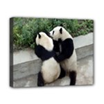 Let Me Kiss You Pandas In Love Canvas 10  x 8  (Stretched)
