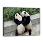 Let Me Kiss You Pandas In Love Canvas 16  x 12  (Stretched)