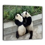 Let Me Kiss You Pandas In Love Canvas 24  x 20  (Stretched)