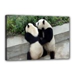 Let Me Kiss You Pandas In Love Canvas 18  x 12  (Stretched)