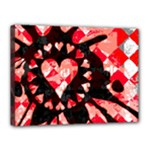 Love Heart Splatter Canvas 16  x 12  (Stretched)