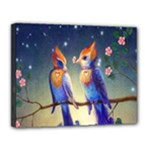 Peaceful And Love Birds Canvas 14  x 11  (Stretched)