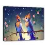 Peaceful And Love Birds Canvas 20  x 16  (Stretched)