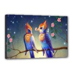 Peaceful And Love Birds Canvas 18  x 12  (Stretched)