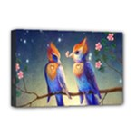 Peaceful And Love Birds Deluxe Canvas 18  x 12  (Stretched)