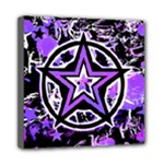 Purple Star Mini Canvas 8  x 8  (Stretched)