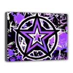 Purple Star Canvas 16  x 12  (Stretched)