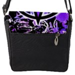 Purple Star Flap closure messenger bag (Small)