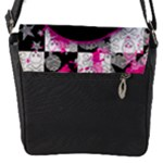 Scene Kid Girl Skull Flap closure messenger bag (Small)