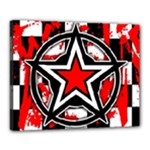 Star Checkerboard Splatter Canvas 20  x 16  (Stretched)