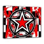 Star Checkerboard Splatter Canvas 20  x 16  (Stretched)