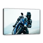 Vehicles Motorcycle Racer Canvas 18  x 12  (Stretched)