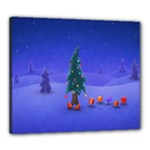 Walking Christmas Tree In Holiday Canvas 24  x 20  (Stretched)