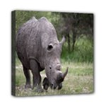 Wild Animal Rhino Mini Canvas 8  x 8  (Stretched)