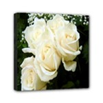 White Rose Mini Canvas 6  x 6  (Stretched)