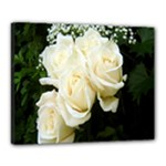 White Rose Canvas 20  x 16  (Stretched)