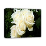 White Rose Deluxe Canvas 14  x 11  (Stretched)