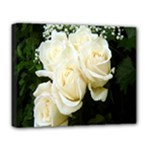 White Rose Deluxe Canvas 20  x 16  (Stretched)