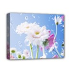 White Gerbera Flower Refresh From Rain Deluxe Canvas 14  x 11  (Stretched)